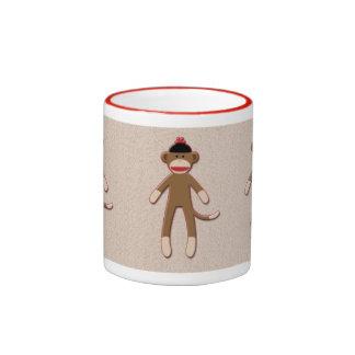 Retro vintage sock-style monkey mug