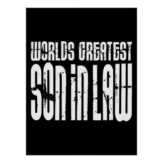 Retro Vintage Sons in Law : World's Greatest Son Poster