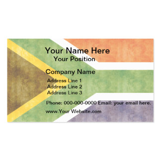 Retro Vintage South Africa Flag Business Cards
