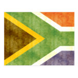 Retro Vintage South Africa Flag Postcard