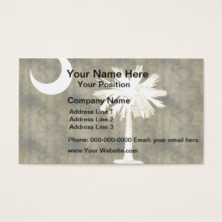 Retro Vintage South Carolina Flag Business Card