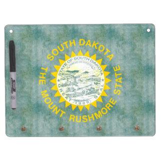 Retro Vintage South Dakota Flag Dry Erase Whiteboard