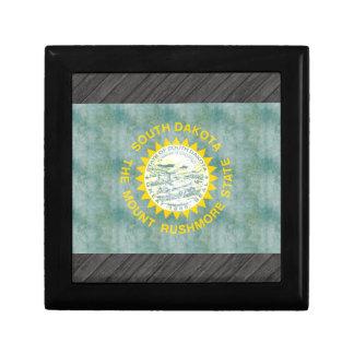 Retro Vintage South Dakota Flag Keepsake Boxes