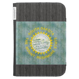Retro Vintage South Dakota Flag Kindle Folio Cases