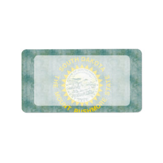 Retro Vintage South Dakota Flag Label