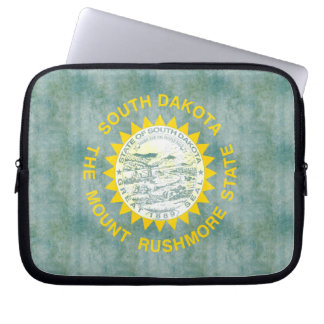 Retro Vintage South Dakota Flag Laptop Sleeve