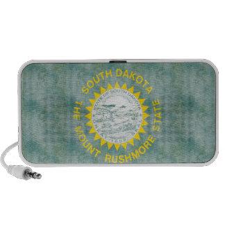 Retro Vintage South Dakota Flag Laptop Speaker