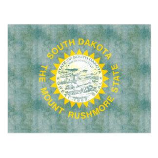 Retro Vintage South Dakota Flag Post Card