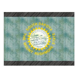 Retro Vintage South Dakota Flag Postcard