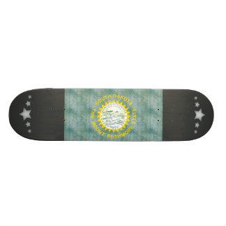 Retro Vintage South Dakota Flag Skate Board