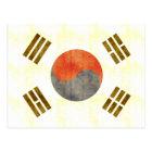 Retro Vintage South Korea Flag Postcard