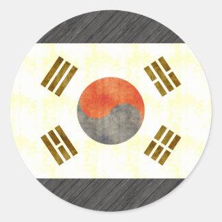 Retro Vintage South Korea Flag Sticker
