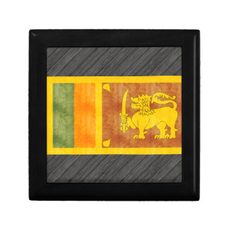 Retro Vintage Sri Lanka Flag Gift Box