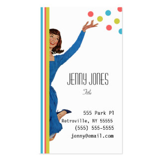 Retro Vintage Stripes and Dots Business Cards