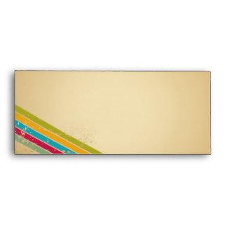 Retro Vintage Stripes Envelope