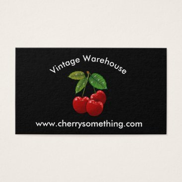 Professional Business Retro Vintage-style Cherry Print Business Card