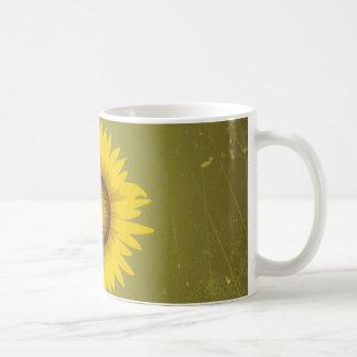 Retro Vintage Sunflower Design Classic White Coffee Mug