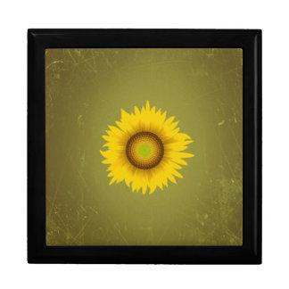 Retro Vintage Sunflower Design Gift Box