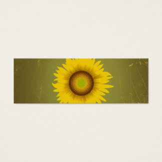 Retro Vintage Sunflower Design Mini Business Card