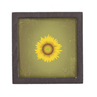 Retro Vintage Sunflower Design Premium Gift Boxes
