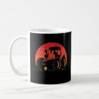 Retro Vintage Sunset Tractor Farmer Life Coffee Mug