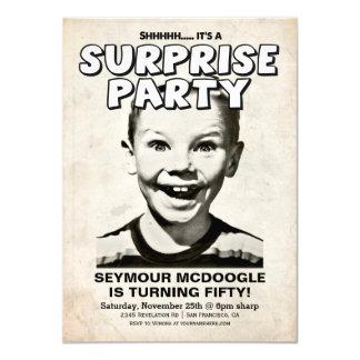 Retro Vintage Surprise Party Invitation