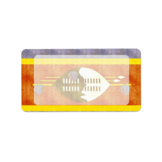 Retro Vintage Swaziland Flag Label