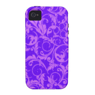 Retro Vintage Swirls Amethyst Purple Case-Mate iPhone 4 Case