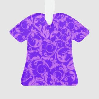 Retro Vintage Swirls Amethyst Purple Ornament
