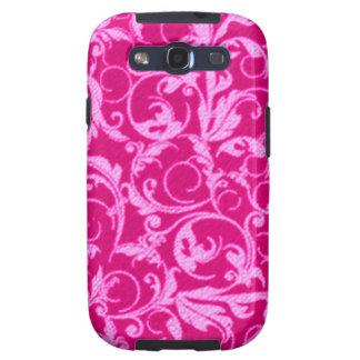 Retro Vintage Swirls Hot Pink Case-Mate Samsung Galaxy SIII Cover