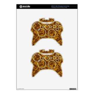 Retro Vintage Swirls Mustard Brown XBOX 360 Xbox 360 Controller Decal