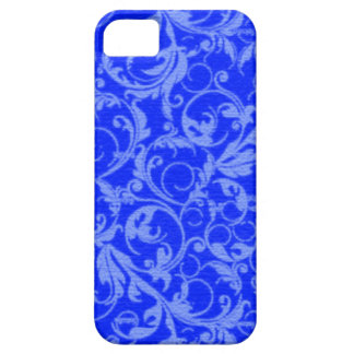 Retro Vintage Swirls Sapphire Blue Case-Mate iPhone 5 Cases