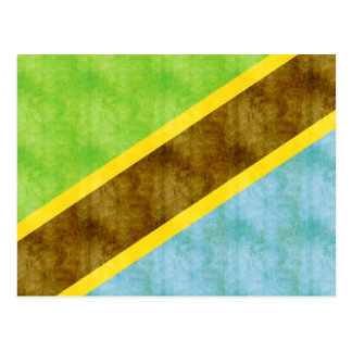 Retro Vintage Tanzania Flag Postcard