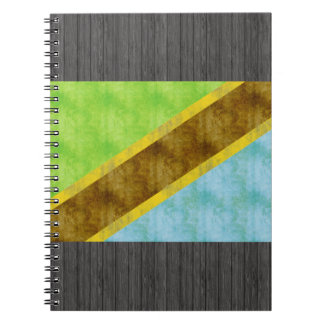 Retro Vintage Tanzania Flag Spiral Notebook
