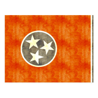 Retro Vintage Tennessee Flag Postcard