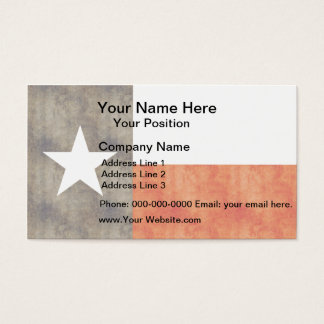 Retro Vintage Texas Flag Business Card
