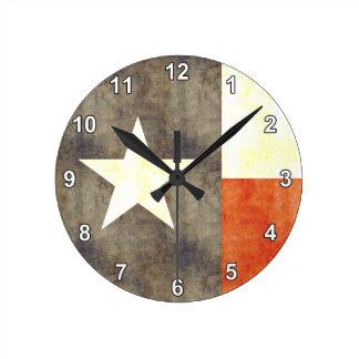 Retro Vintage Texas Flag Wall Clocks