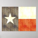 Retro Vintage Texas Flag Poster
