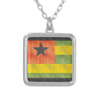 Retro Vintage Togo Flag Personalized Necklace