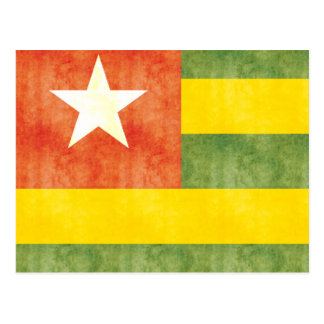 Retro Vintage Togo Flag Postcard