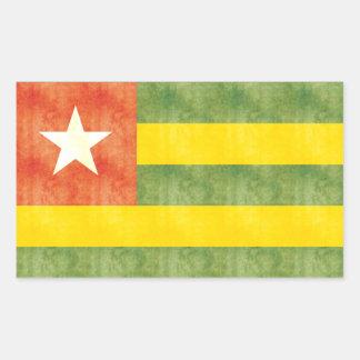 Retro Vintage Togo Flag Rectangular Sticker