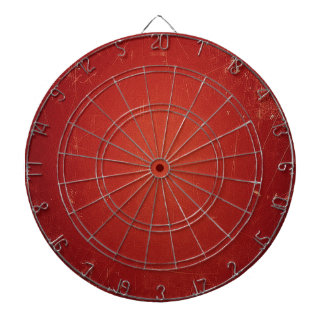 Retro Vintage Tomato Red Pattern. Fashion Color Dart Board