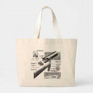 Retro Vintage Toy 'Build a Clatter Gun' Jumbo Tote Bag