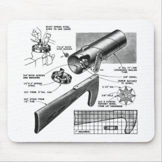 Retro Vintage Toy 'Build a Clatter Gun' Mouse Pad