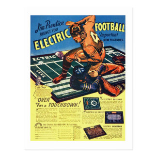 Retro Vintage Toy 'Electric Football Game' Postcard