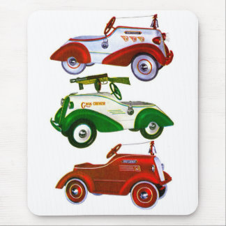 Retro Vintage Toy Pedal Cars Mouse Pad