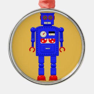 Retro vintage toy robot metal ornament