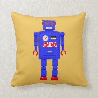 Retro vintage toy robot pillow