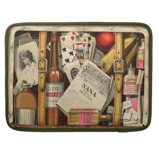 Retro Vintage Travel Suitcase Macbook Pro Sleeves For MacBooks