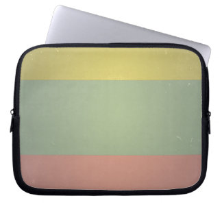 Retro Vintage Tri Color Pattern Computer Sleeve